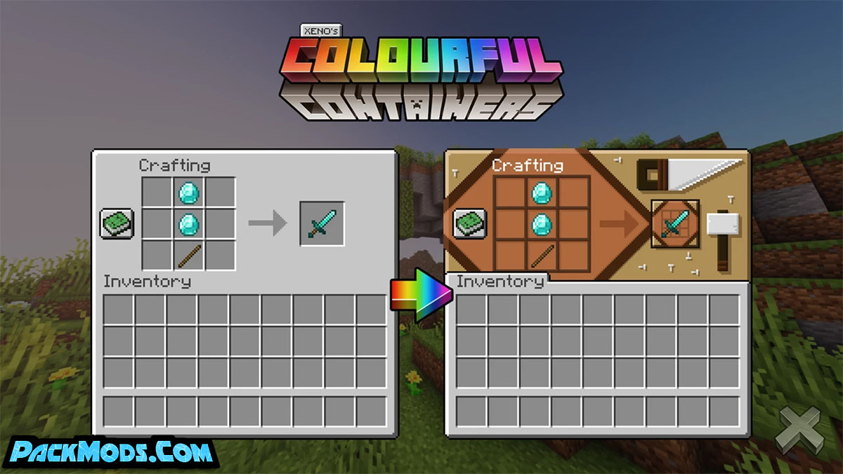 colourful containers gui resource pack 2 - Colourful Containers GUI 1.17/1.16.4 Resource Pack 1.15.2/1.14.4/1.13.2 (16x)