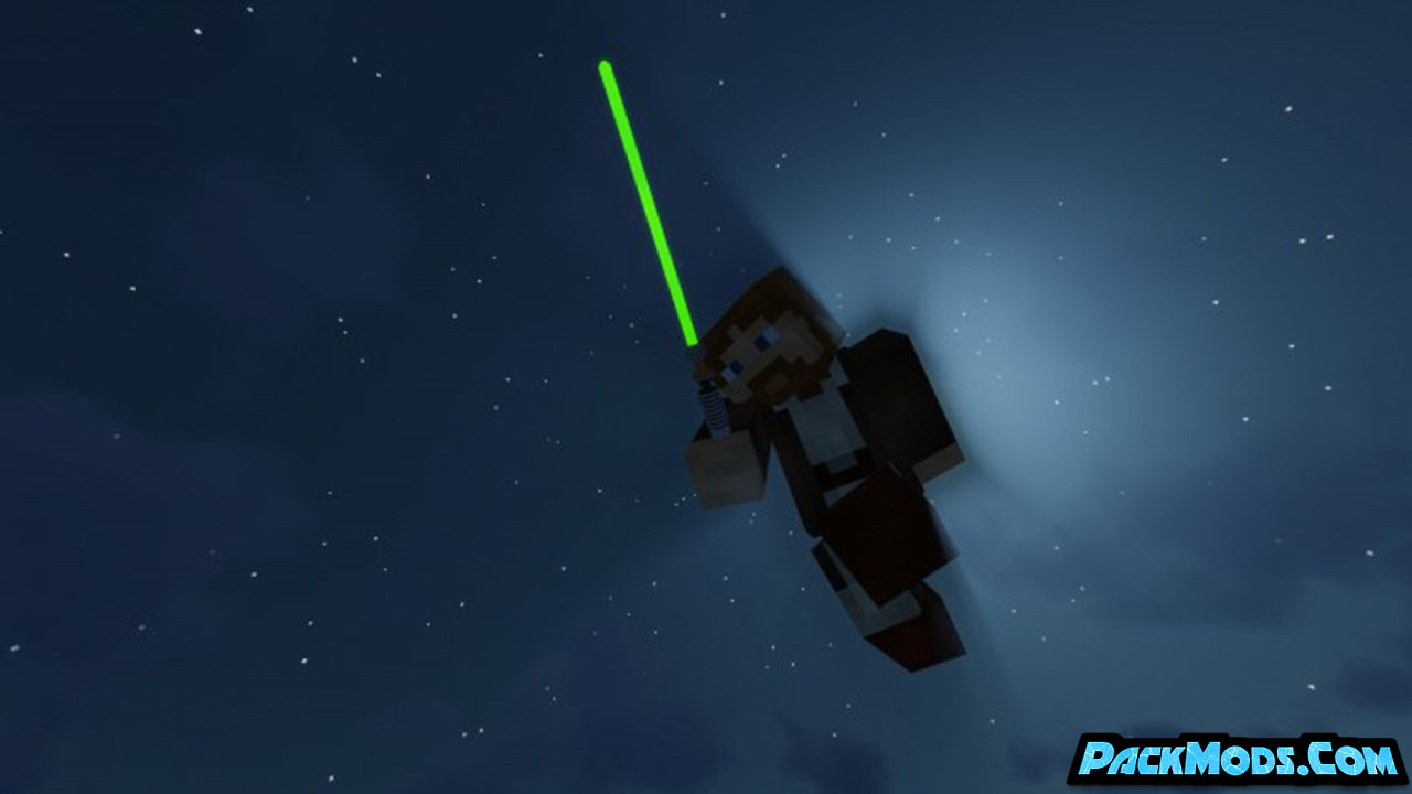glowing 3d lightsabers resource pack 2 - Glowing 3D Lightsabers 1.17/1.16.5 Resource Pack 1.15.2/1.14.4/1.13.2