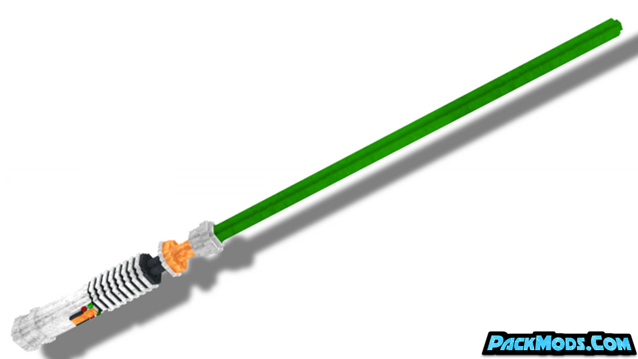 glowing 3d lightsabers resource pack 3 - Glowing 3D Lightsabers 1.17/1.16.5 Resource Pack 1.15.2/1.14.4/1.13.2
