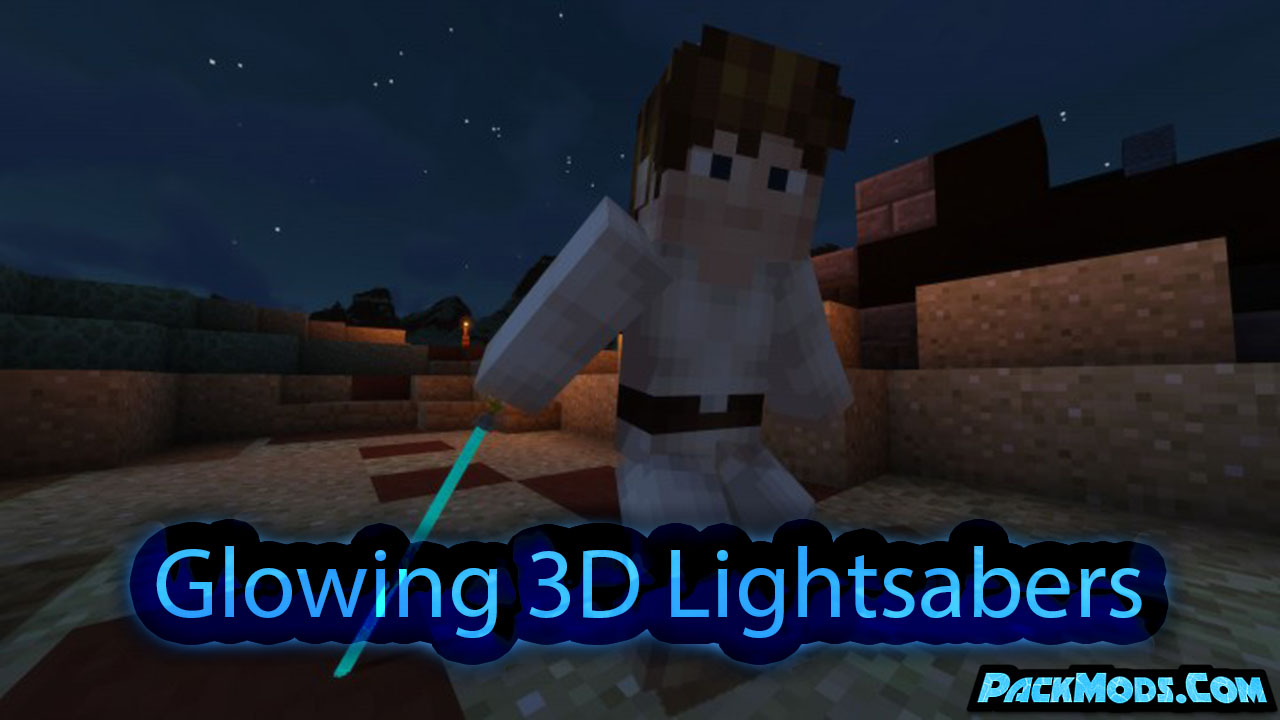 glowing 3d lightsabers resource pack - Glowing 3D Lightsabers 1.17/1.16.4 Resource Pack 1.15.2/1.14.4/1.13.2