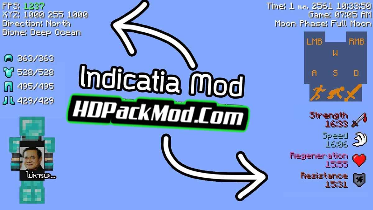 indicatia mod - Indicatia Mod 1.16.5/1.15.2/1.14.4 (More Information In The Game)