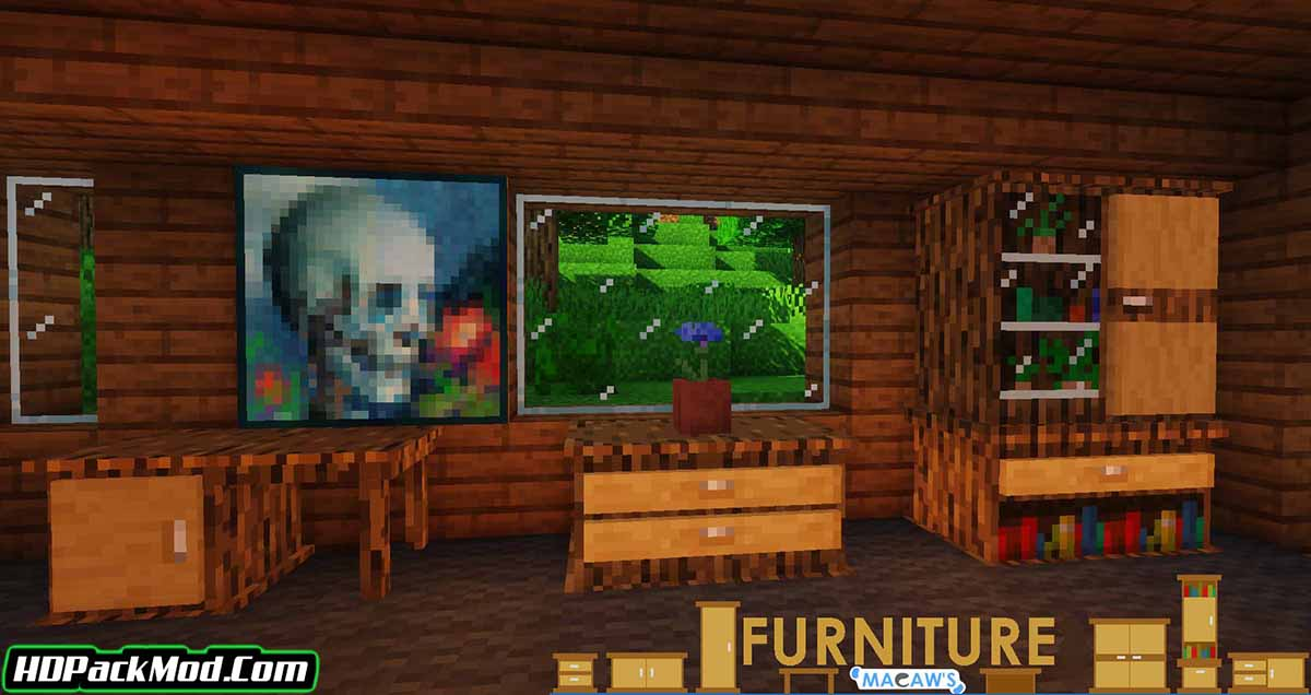 macaws furniture mod 2 - Macaw's Furniture Mod 1.16.5/1.15.2 (Decorate the World with Furniture)