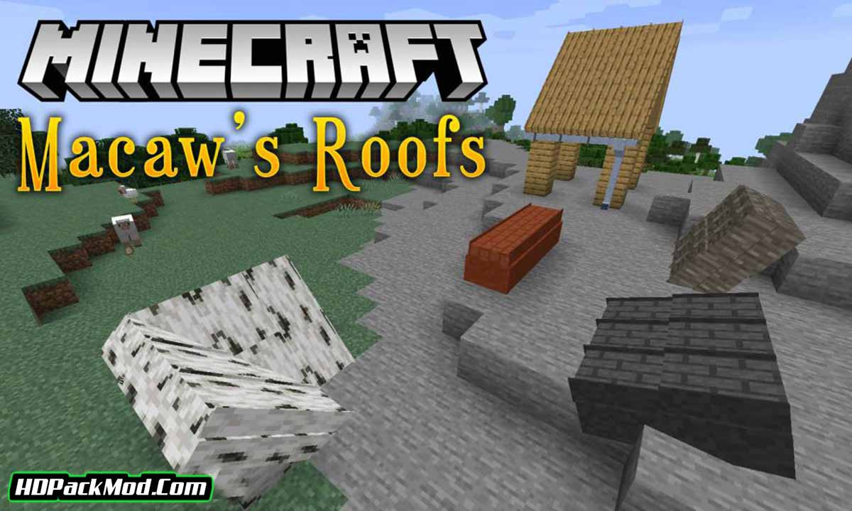 macaws roofs mod - Macaw's Roofs Mod 1.16.5/1.15.2/1.14.4 (Beautiful Roofs)
