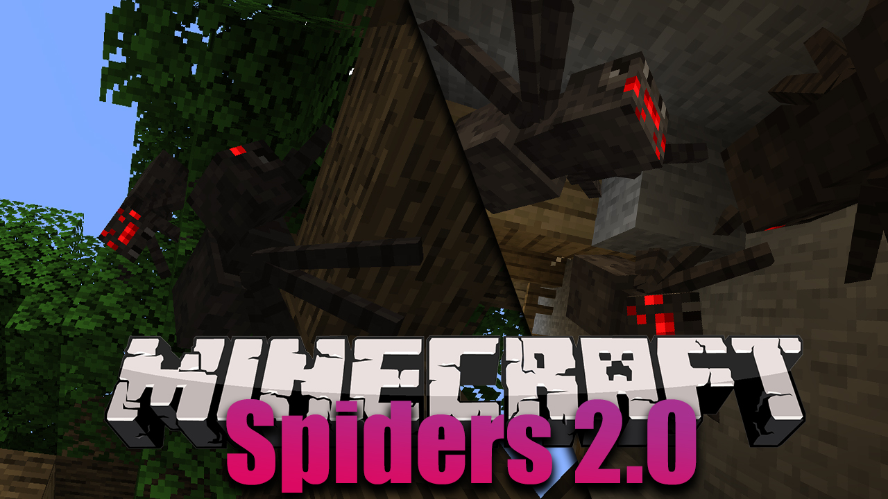 spiders 2 0 mod - Spiders 2.0 Mod 1.16.5/1.15.2 (Spiders Crawling On Walls)