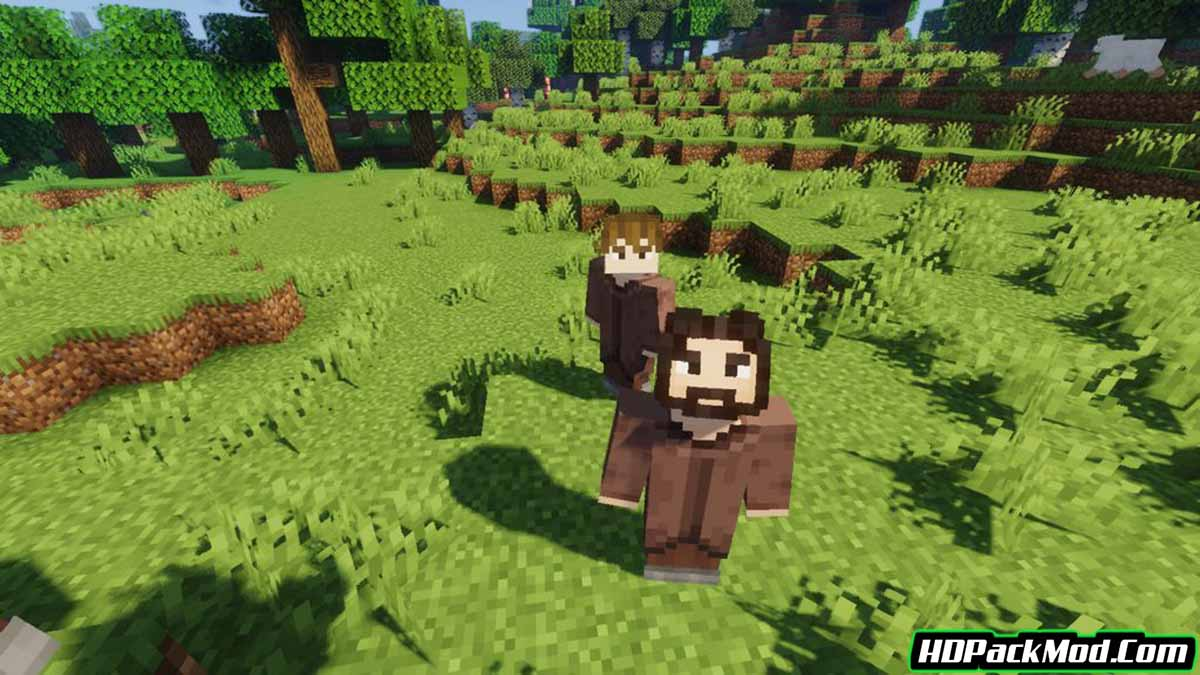 player mob models resource pack 2 - Player Mob Models 1.16.5 Resource Pack 1.15.2/1.14.4/1.12.2 (Player Model Textures)