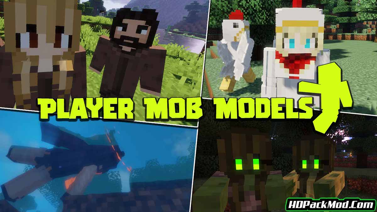 player mob models resource pack - Player Mob Models 1.16.5 Resource Pack 1.15.2/1.14.4/1.12.2 (Player Model Textures)