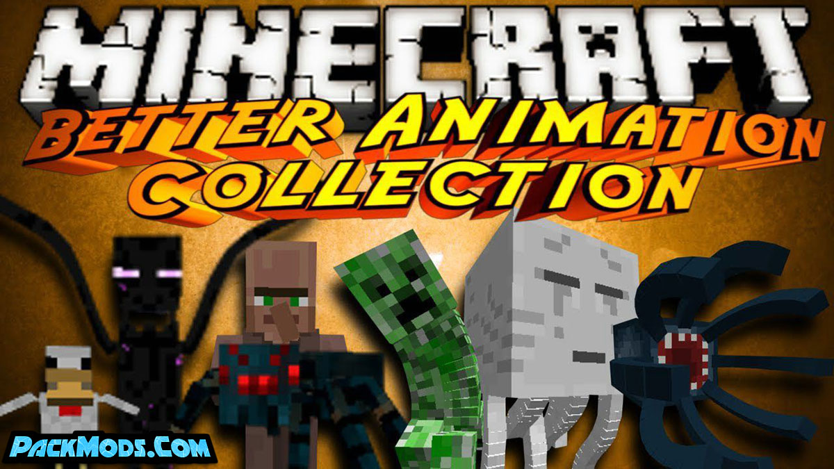 better animations collection 2 mod - Better Animations Collection 2 Mod 1.16.5/1.14.4 (Replacing Mob Animations)