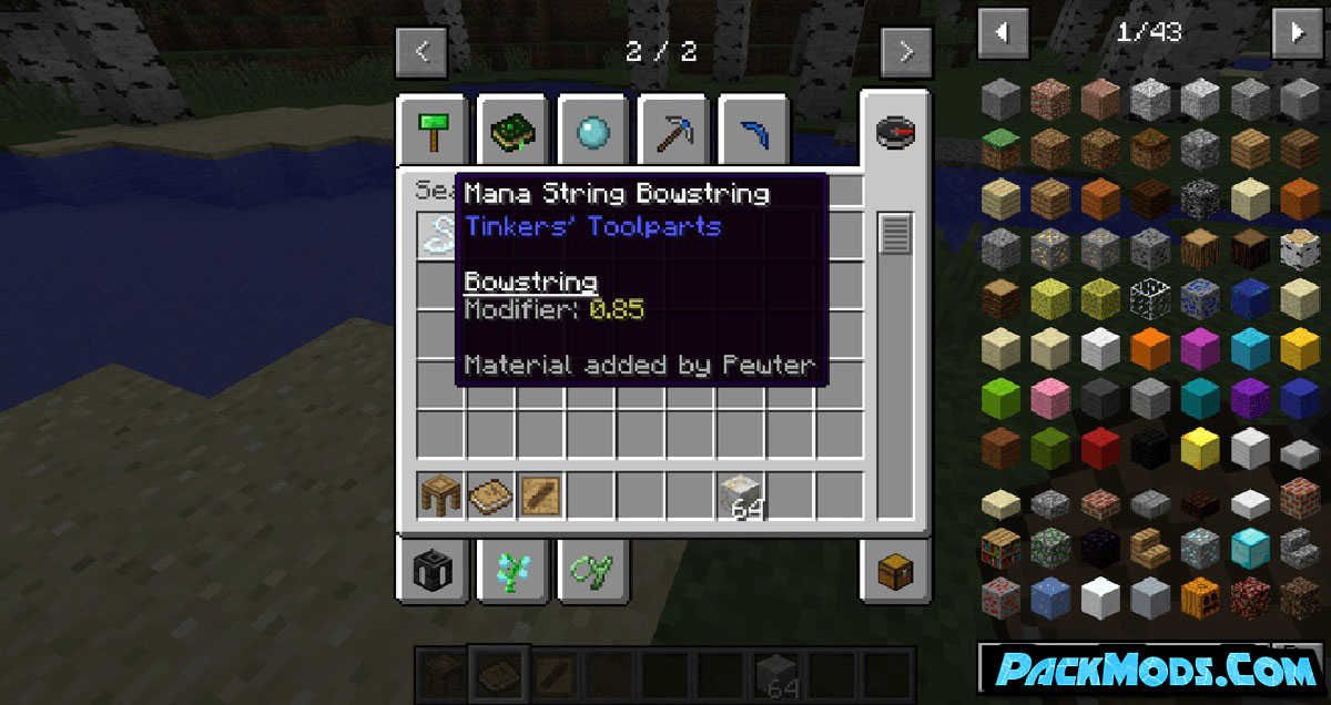 pewter mod 2 - Pewter Mod 1.12.2 (Sixteen Tinkers Construct Materials)