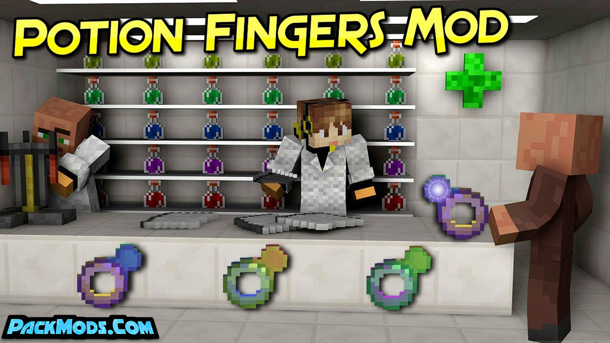 potion fingers mod - Potion Fingers Mod 1.12.2 (Rings That Add Potion Effects)