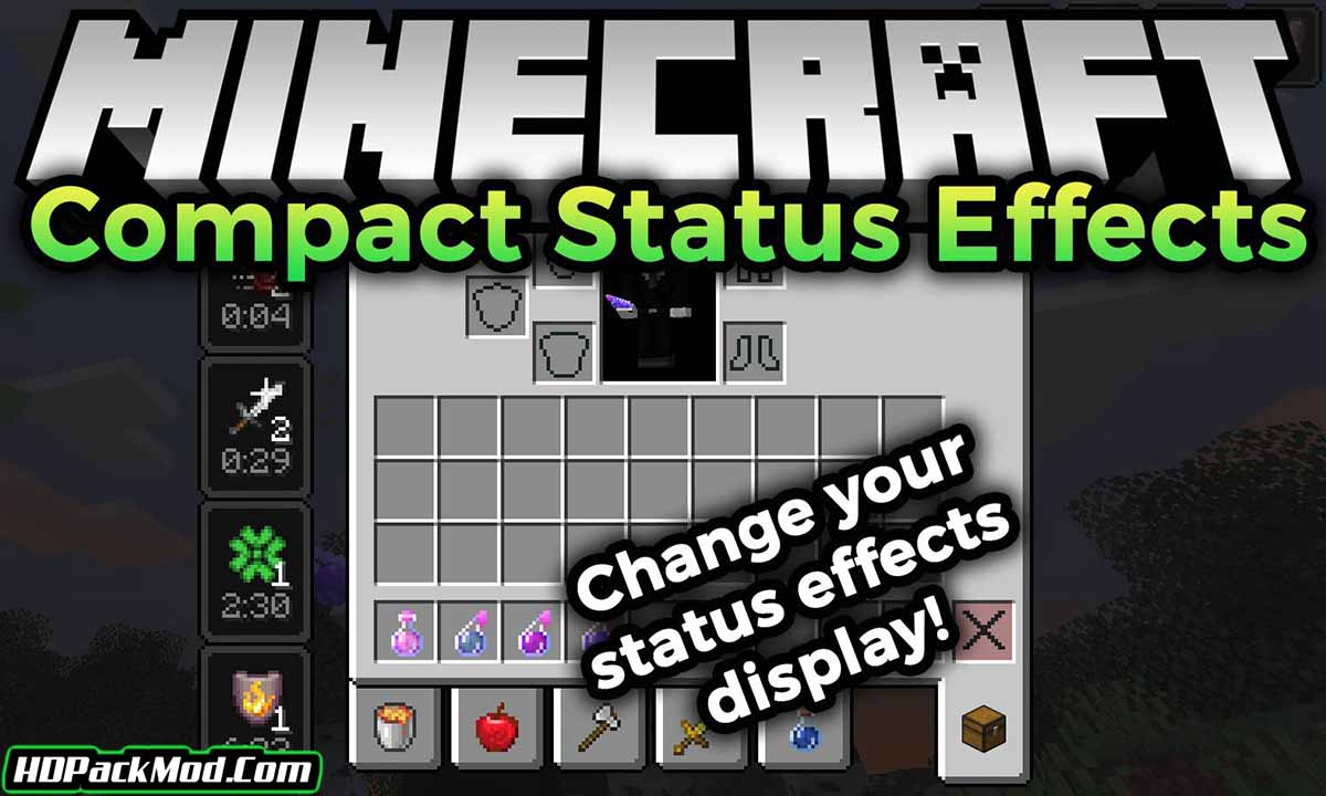 compact status effects mod - Compact Status Effects Mod 1.17.1/1.16.5 (Short Status Effects)