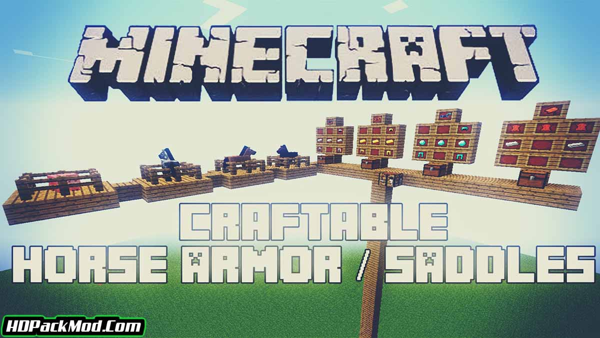 craftable horse armour and saddle mod - Craftable Horse Armour and Saddle Mod 1.17.1/1.16.5 (Armor for Horses)