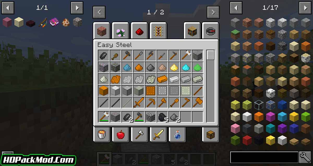 easy steel more mod 2 - Easy Steel & More Mod 1.17.1/1.16.5 (New Ore, Tools and Other)