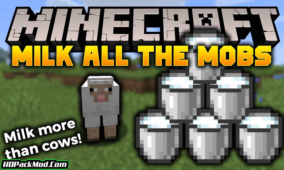 milk all the mobs mod - Milk All The Mobs Mod 1.17.1/1.16.5 (Milk is Not Just for Cows)