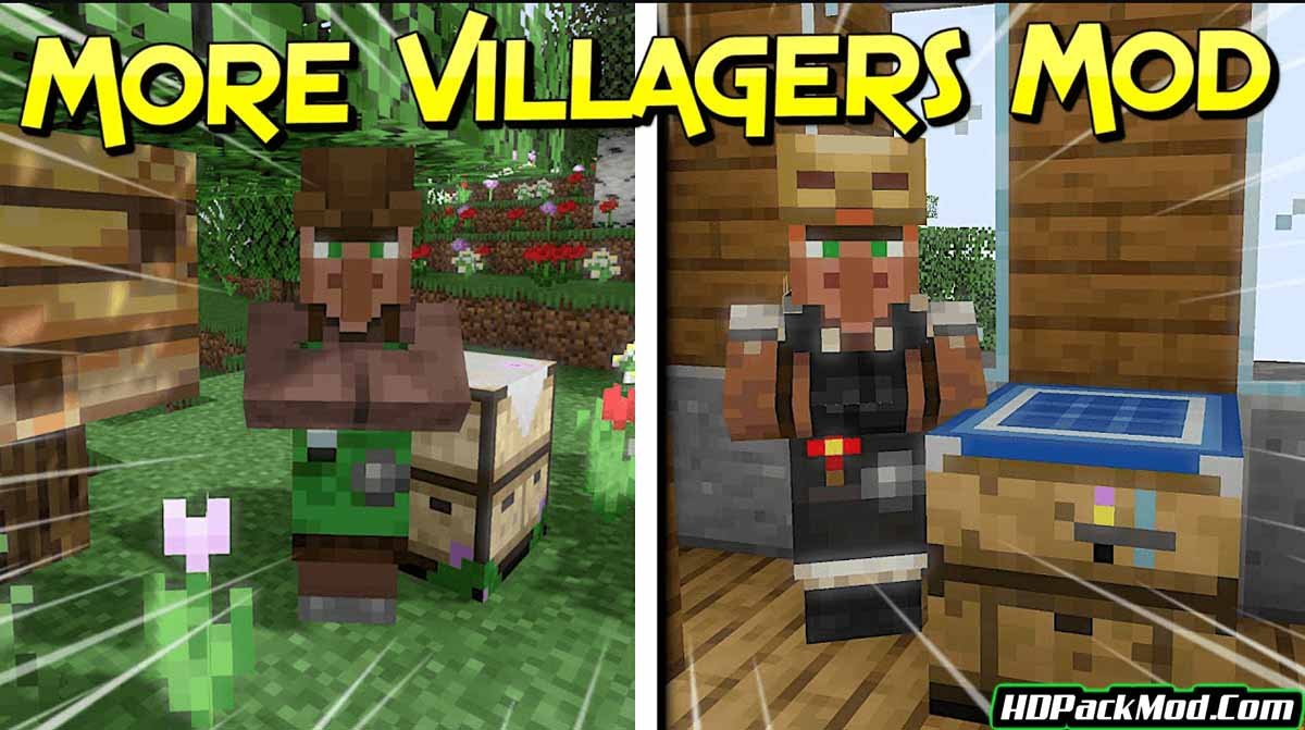 more villagers mod - More Villagers Mod 1.17.1/1.16.5 (Professions of The Villagers)