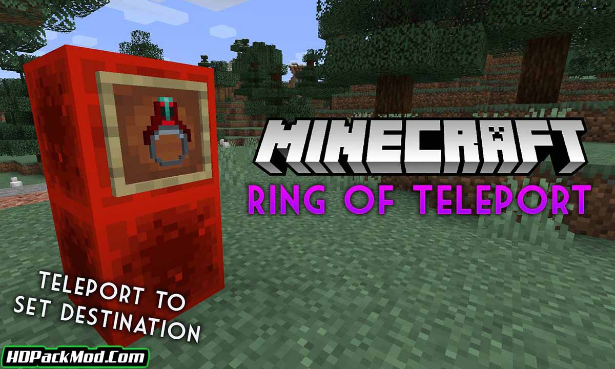ring of teleport mod - Ring Of Teleport Mod 1.17.1/1.16.5 (Reusable, Teleport to a Stored Location)