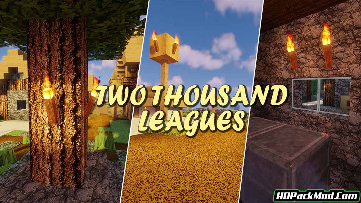 two thousand leagues resource pack - Two Thousand Leagues 1.17.1/1.16.5 Resource Pack (HD Textures)