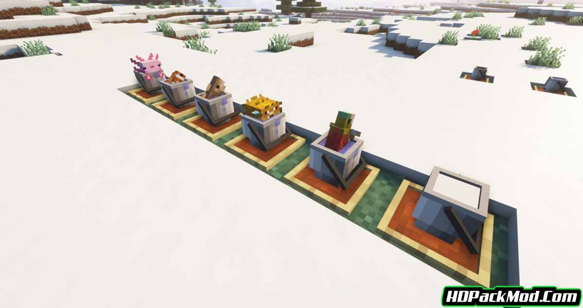 findreks 3d buckets and fish resource pack 3 - Findrek's 3D Buckets and Fish 1.17.1 Resource Pack 1.16.5 (16x)