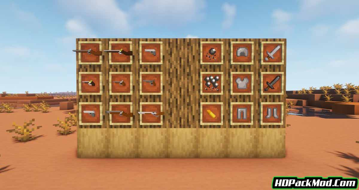 frys things guns and more mod 2 - Fry's Things Guns and More Mod 1.16.5 (Cannon, Firearms)
