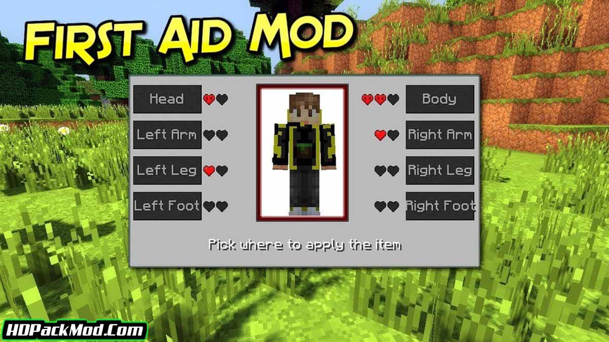 first aid mod - First Aid Mod 1.17.1/1.16.5 (New Health Structure)