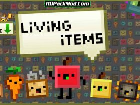 living items resource pack 280x210 - Living Items 1.16.5 Resource Pack 1.15.2/1.14.4 (16x)