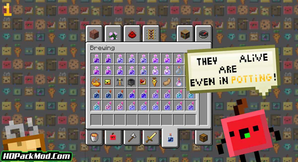 living items resource pack 4 - Living Items 1.16.5 Resource Pack 1.15.2/1.14.4 (16x)