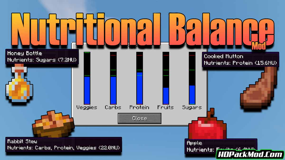 nutritional balance mod - Nutritional Balance Mod 1.17.1/1.16.5 (Eating, Difficulty)