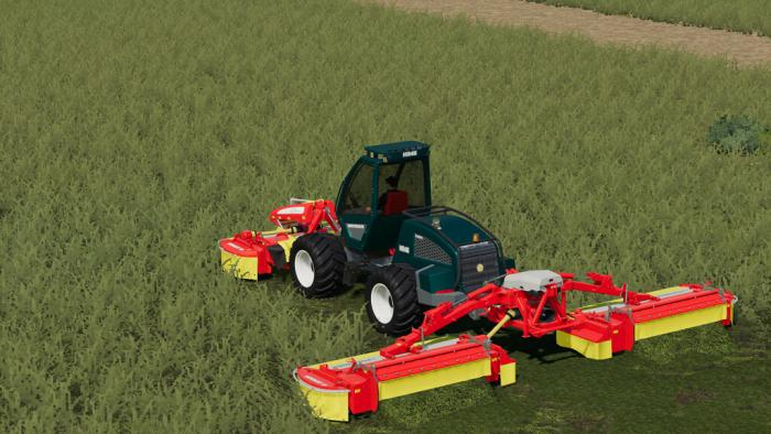 sampo hr46 multitrac and 3p adapter 2 - Sampo HR46 Multitrac And 3P Adapter FS19 Mod