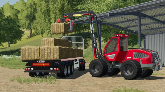 sampo hr46 multitrac and 3p adapter 5 - Sampo HR46 Multitrac And 3P Adapter FS19 Mod