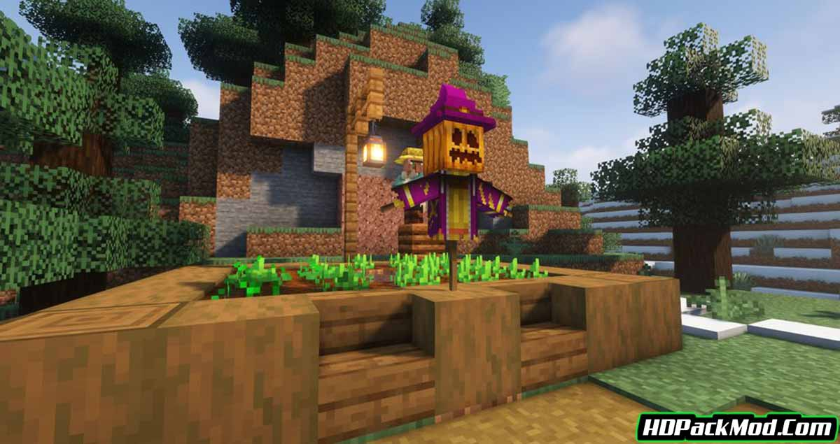 scarecrows territory mod 2 - Scarecrow's Territory Mod 1.17.1/1.16.5 (Crops Protector, Scarecrow)