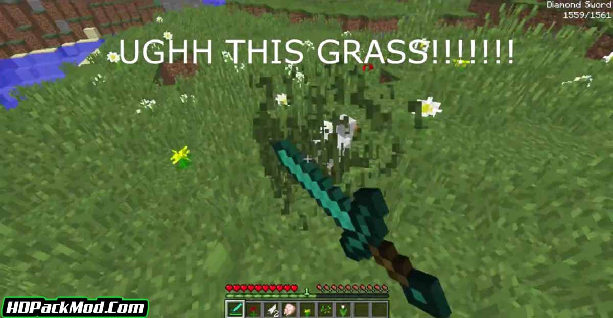 swingthroughgrass mod 2 - SwingThroughGrass Mod 1.16.5/1.15.2 (Hit The Mob Through The Grass)