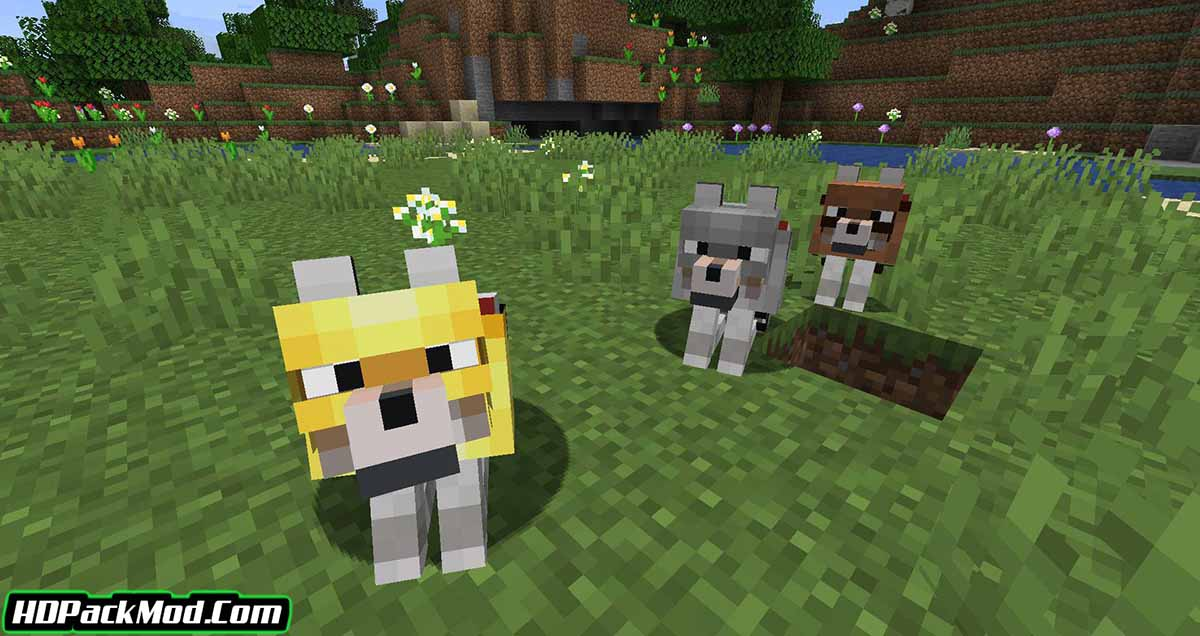 wolves with armor mod 4 - Wolves With Armor Mod 1.17.1/1.16.5 (Armor for Dogs)