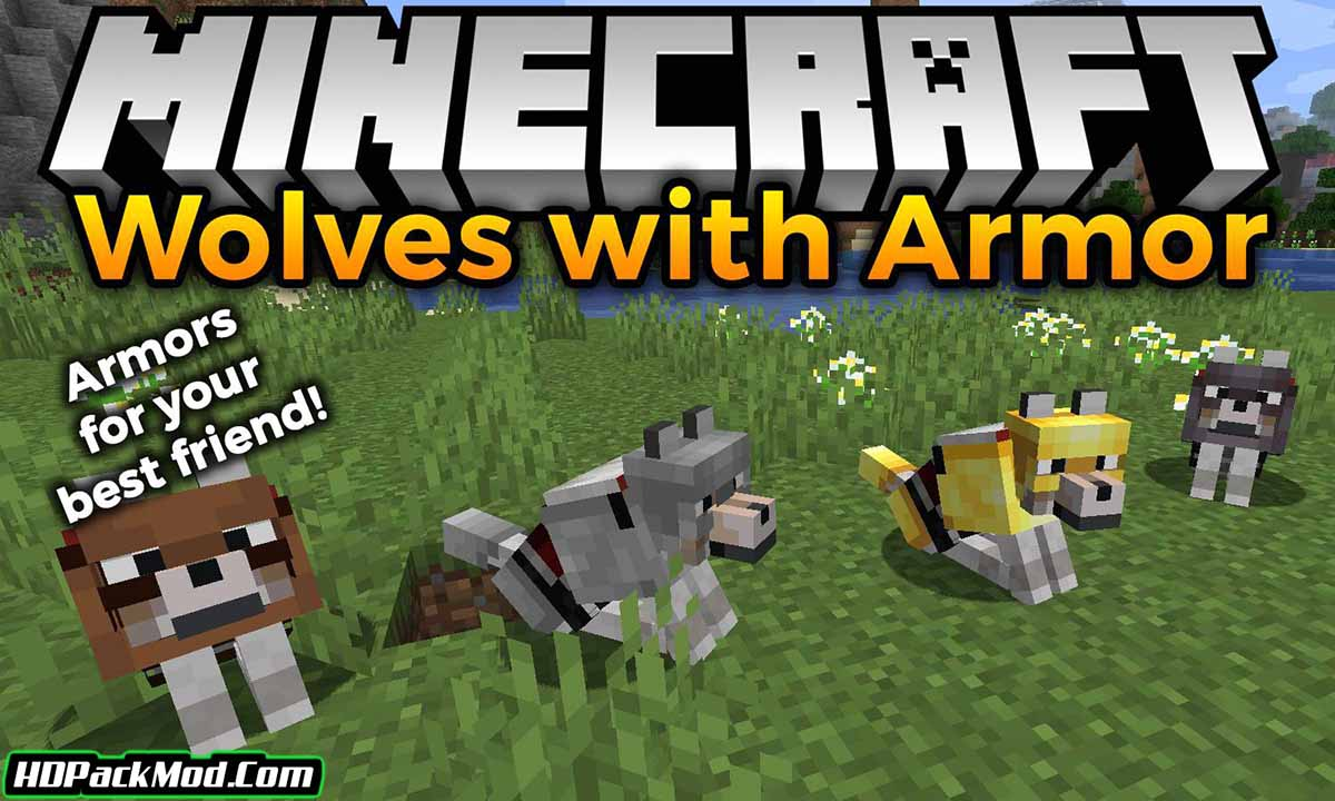 wolves with armor mod - Wolves With Armor Mod 1.17.1/1.16.5 (Armor for Dogs)