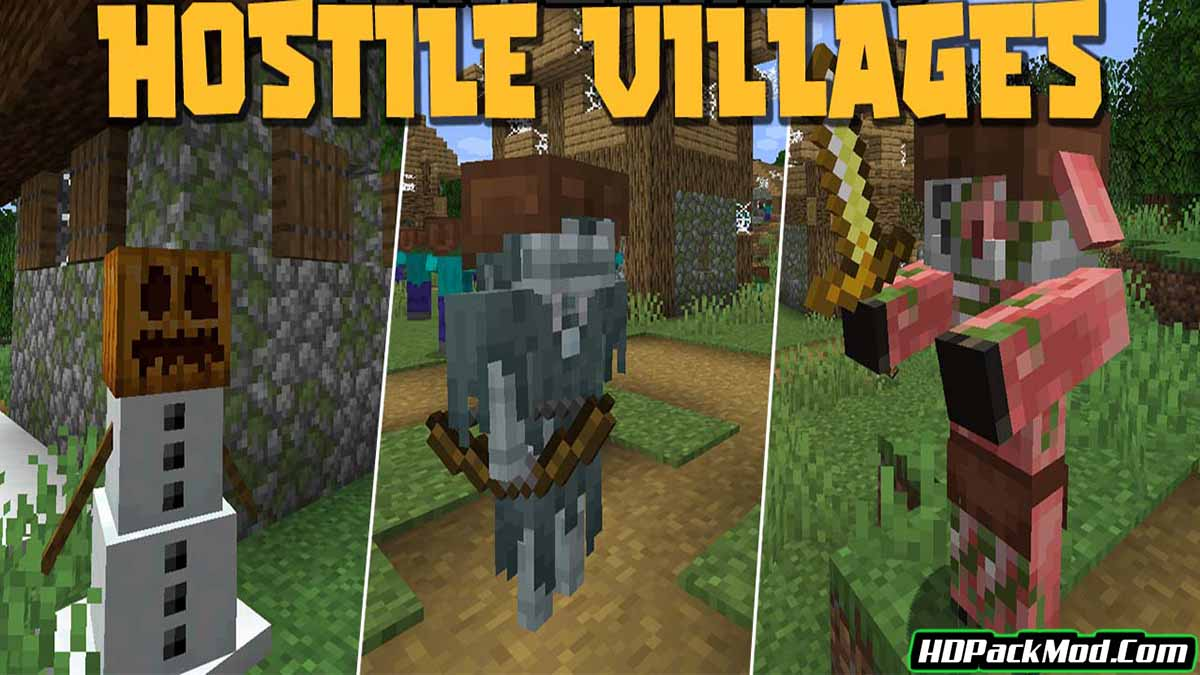 hostile villages mod - Hostile Villages Mod 1.17.1/1.16.5 (Deterrent, Challenging)