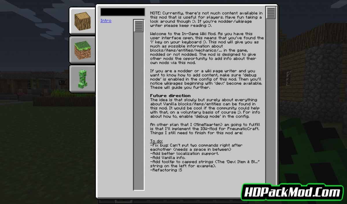 in game wiki mod 3 - In-Game Wiki Mod 1.12.2/1.10.2