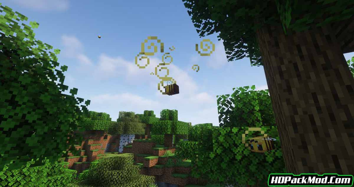 realistic bees mod 3 - Realistic Bees Mod 1.17.1/1.16.5/1.15.2