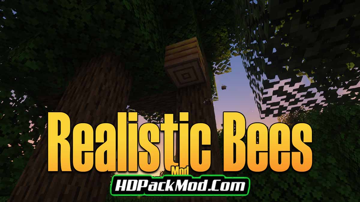 realistic bees mod - Realistic Bees Mod 1.17.1/1.16.5/1.15.2
